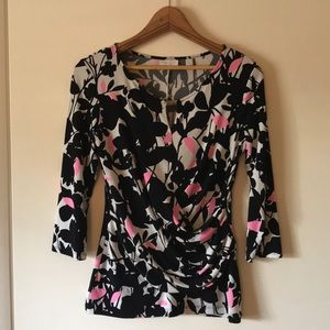 NY&Co 3/4 sleeve floral print size M blouse